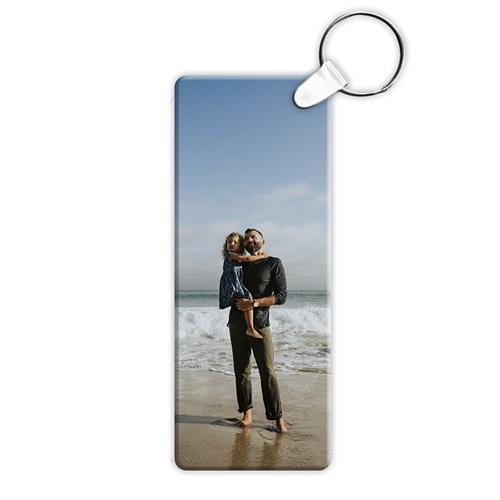 Porte clés personnalisés  - Rectangulaire - 3,2 x 7,5 cm 6842 thumb