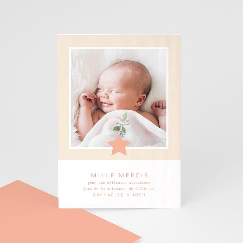 Carte Remerciement Naissance Fille Voie Lactée Rosée