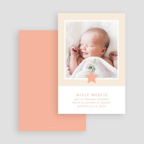 Carte Remerciement Naissance Fille Voie Lactée Rosée gratuit