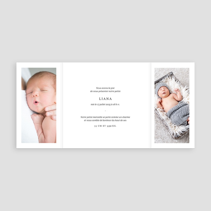 Faire-Part Naissance Fille - Welcome Baby 68505 thumb