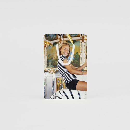 Marque-Page Aluminium Personnalisé Signet Photo - 7,5 x 5 cm