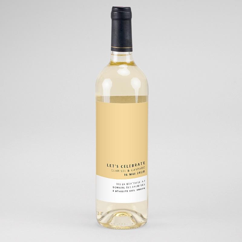 Étiquette bouteille mariage vin Jaune Estival