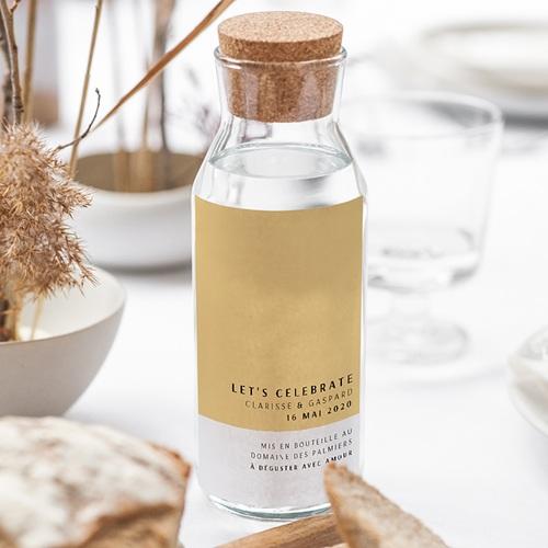 Étiquette bouteille mariage vin Jaune Estival gratuit