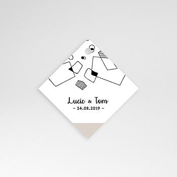 Etiquette Mariage - Formes Abstraites - 0