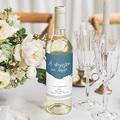 Étiquette bouteille mariage vin L'or bleu