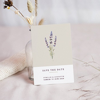 Save-The-Date - Bouquet de Lavande - 0