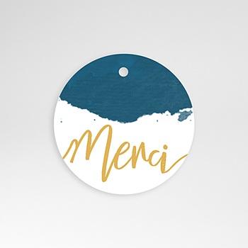 Etiquette Mariage - L'or bleu - 0