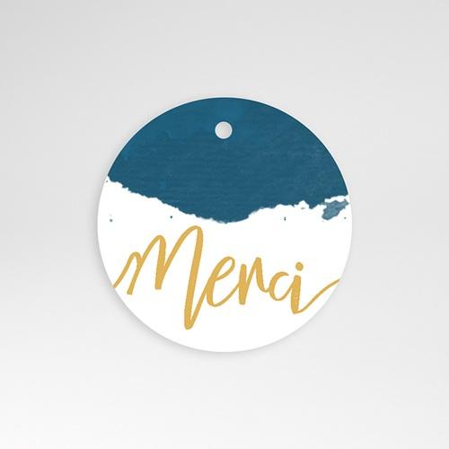Etiquette Cadeau Mariage L'or bleu