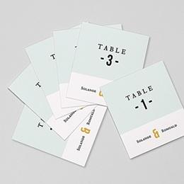 Marque table mariage Photo & Typo