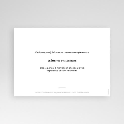 Faire-Part Naissance Jumeaux - Jumelles Filles 68678 thumb