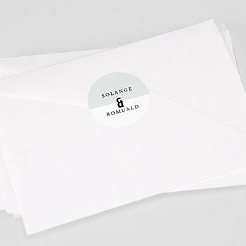 Étiquette autocollante mariage - Photo & Typo - 0