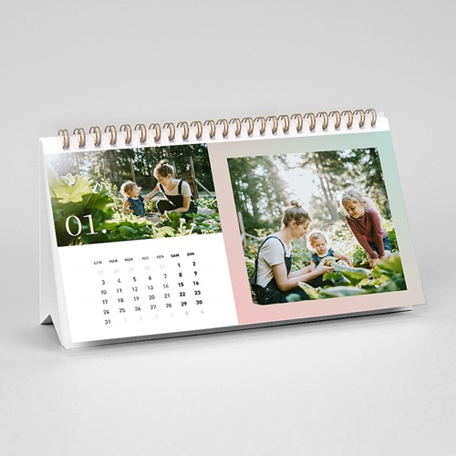 Calendrier photo de bureau 2020 personnalisé New Adventures