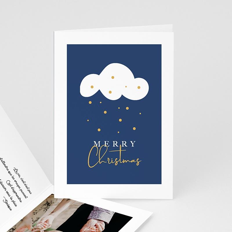 Carte de voeux Merry Christmas Douce Nuit nuage neige