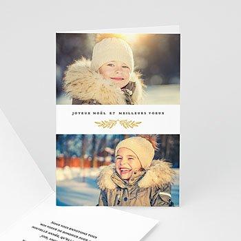 Carte de voeux Joyeux Noë et meilleurs voeux Feuillage festif à personnaliser