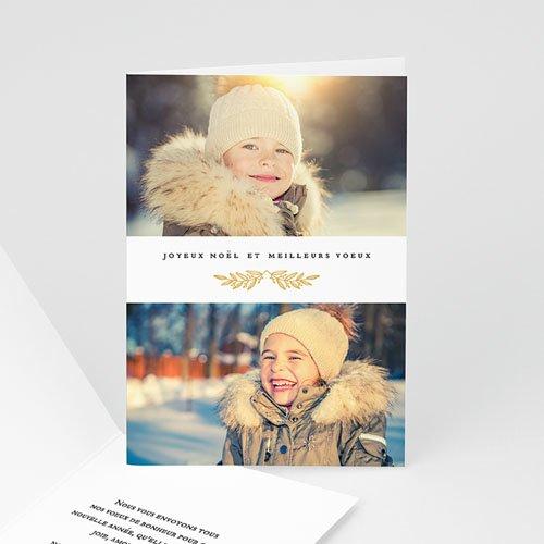 Carte de Voeux Joyeux Noël et meilleurs voeux Feuillage festif
