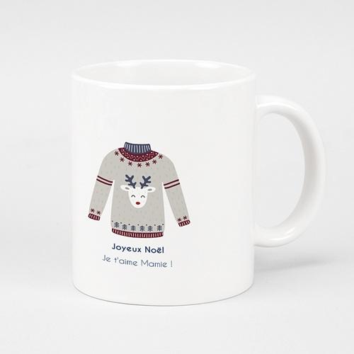 Mug personnalisé Noël Pull de Noel