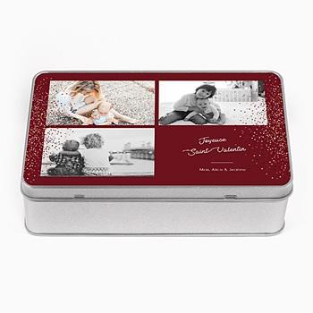 Boîte en métal rectangle Noel magique à personnaliser
