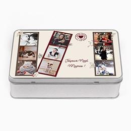 Boîte personnalisée Noel Vintage