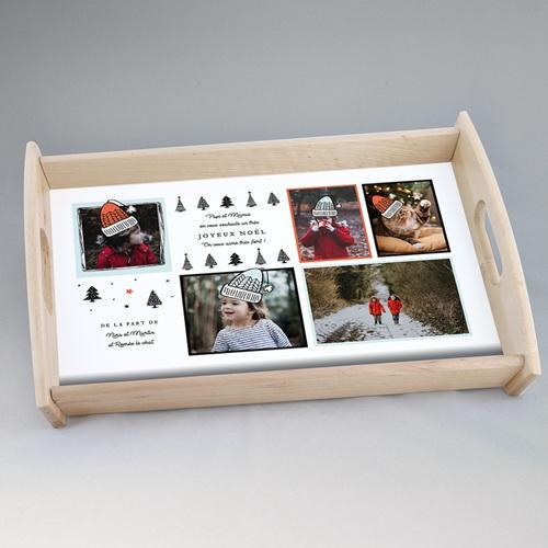 Plateau personnalisé photo petit format Petits sapins