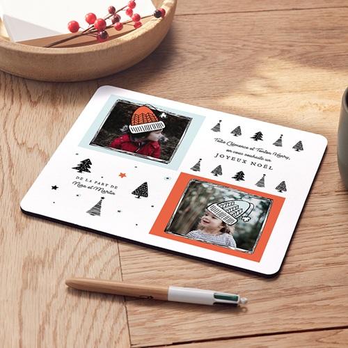 Tapis de souris Noël Bonnets Tricotés