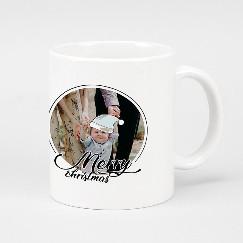 Mug Personnalisé Noël Merry and Happy