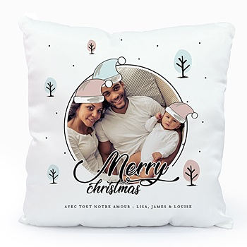 Coussin personnalisé Merry and Happy