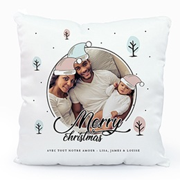 Coussin Noël Merry and Happy