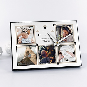 Horloge avec photo - Petit Renne - 0