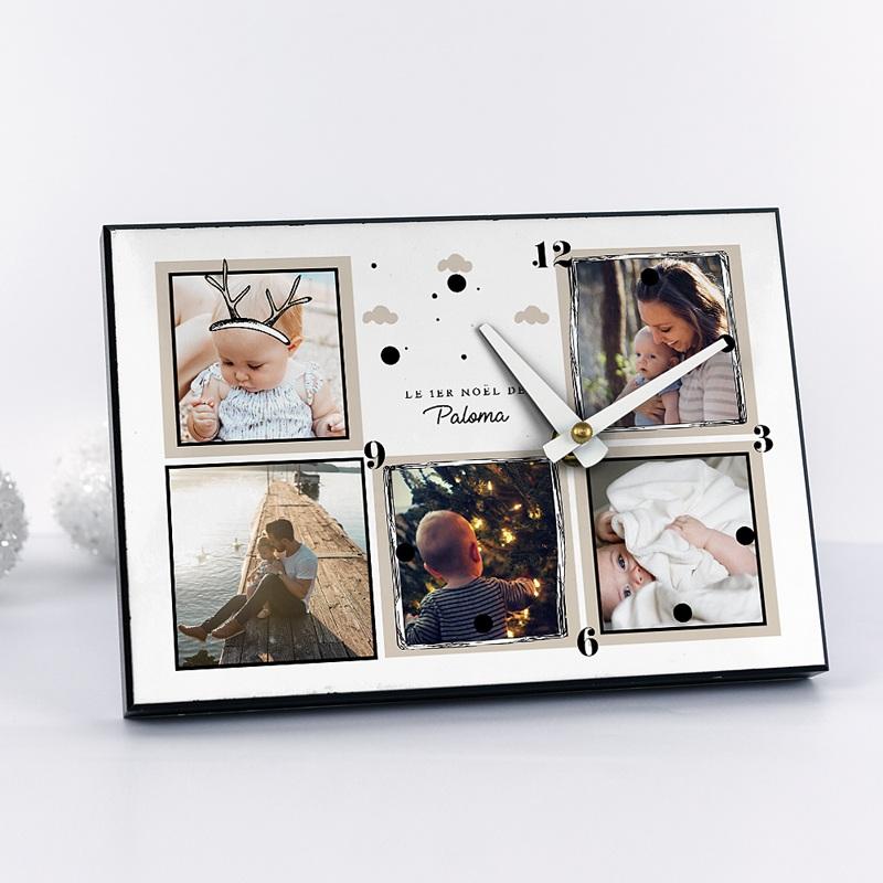 Horloge Personnalisée Photo Petit Renne