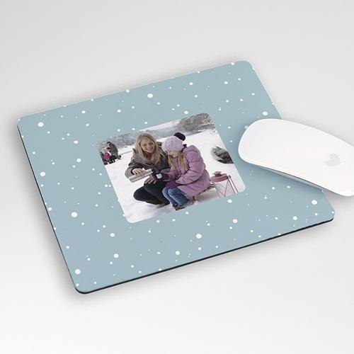 Tapis de souris personnalisé Sapin en boules de neige