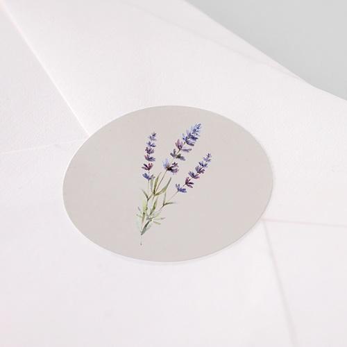 Etiquette Autocollante Mariage Bouquet de Lavande pas cher