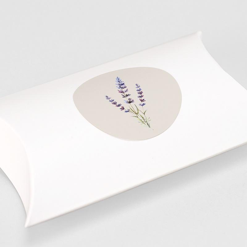 Etiquette Autocollante Mariage Bouquet de Lavande gratuit