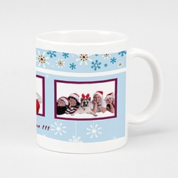 Mug Noël Cocktail de Flocons Bleus
