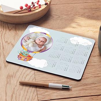 Tapis de souris personnalisé Le ballon rond dans les nuages