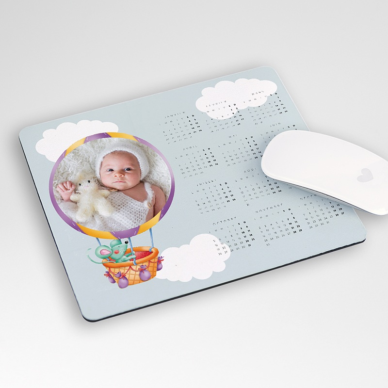 Tapis de souris personnalis calendrier et photo - Tapis de souris rond personnalise ...