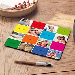 Tapis de souris personnalisé Carrés colorés