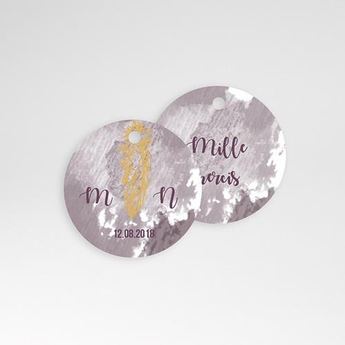 Etiquette Cadeau Mariage Boho Lie de Vin pas cher