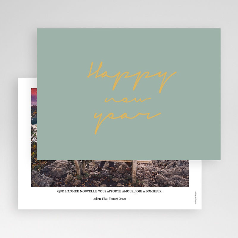 Carte de Voeux Happy New Year design gratuit