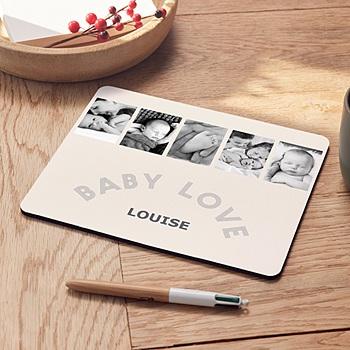 Tapis de souris personnalisé 5 photos à croquer pas cher