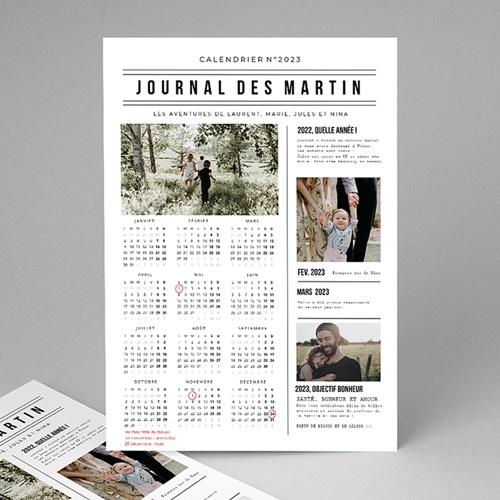 Calendrier Monopage 2020 Journal de l'Année