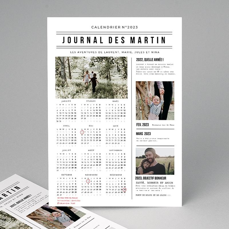 Calendrier Monopage Journal de l'Année