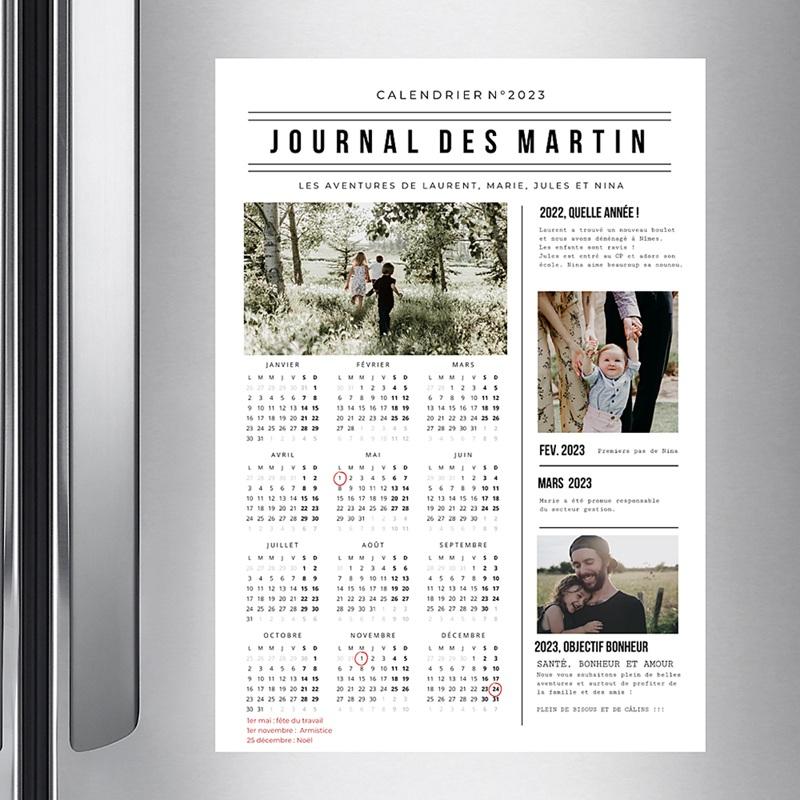 Calendrier Monopage 2020 Journal de l'Année pas cher