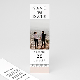 Save the date mariage Couronne Boho