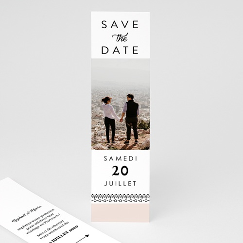 Save The Date Mariage Couronne Boho