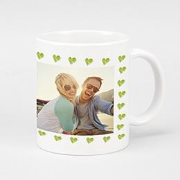 Mug Amour Vert & Rouge