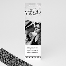 Save the date mariage Ethnique et Kraft