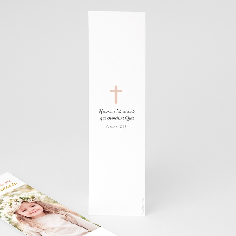 Marque Page Communion Calice Rose pas cher