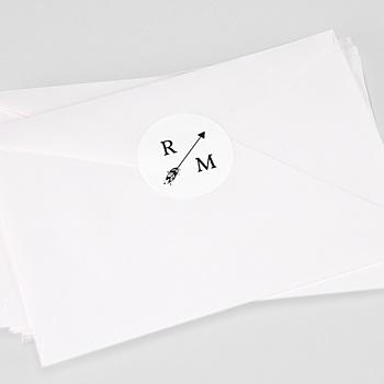 Étiquette autocollante mariage - Flèche Boho - 0