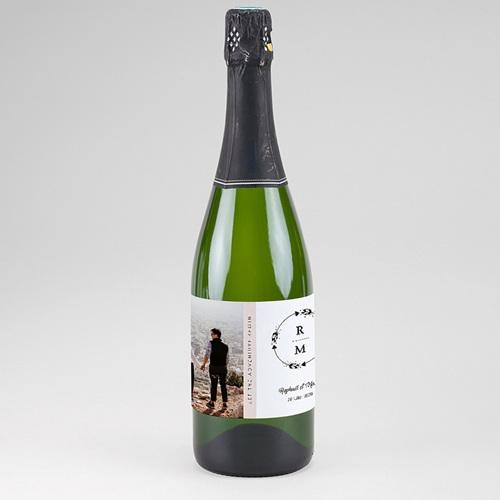 Etiquette Bouteille Champagne Couronne Boho Carteland Com