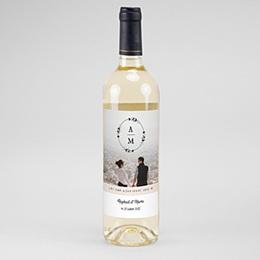 Étiquette bouteille mariage vin Couronne Boho